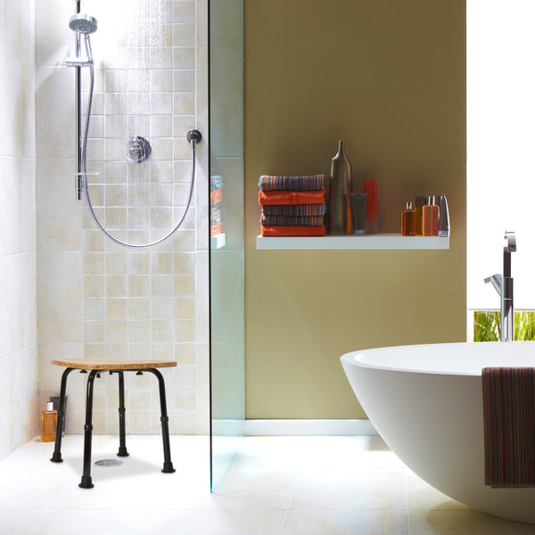 Dmi 174 Bamboo Bath Spa Bench And Shower Stool